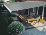 Markilux awning eliminating low lying sun on a patio