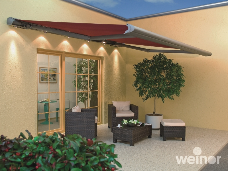 ... Weinor Opal Design Lux on a patio Markilux awning ... & The 6 Stages of Sun Shading Wind and Rain Protection