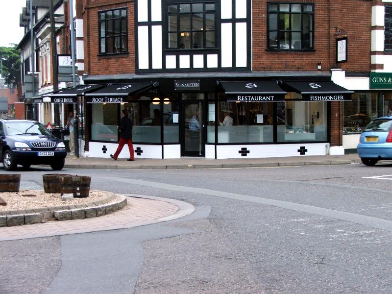Personalised shop awning