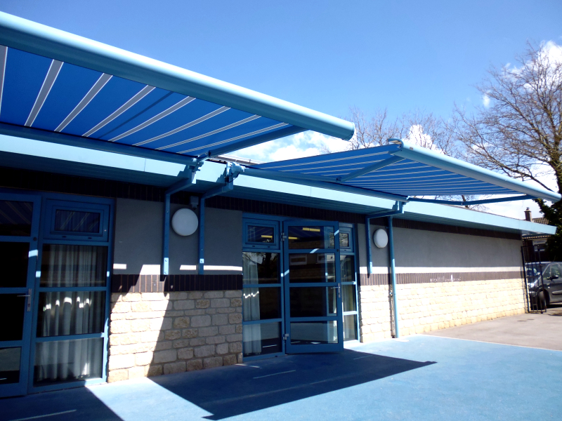 School playground awning