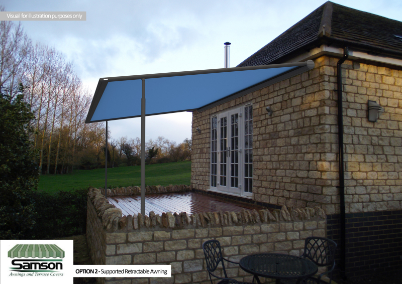 Supported Retractable Awning