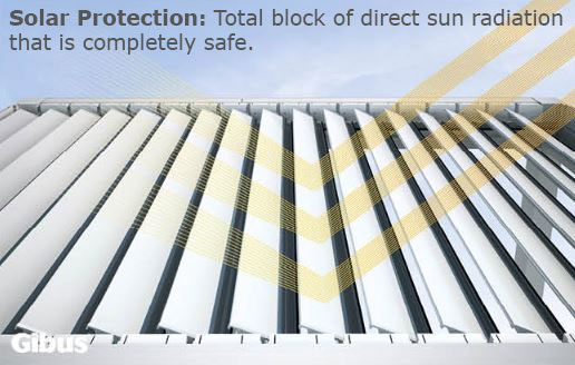 bioclimatic roof sections