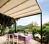 retractable roof with LED lights built in