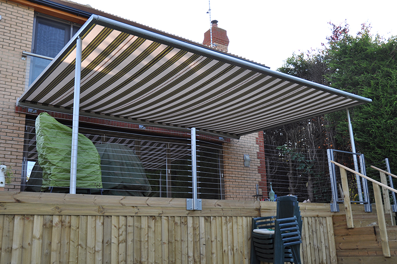 Markilux Pergola on raised decking
