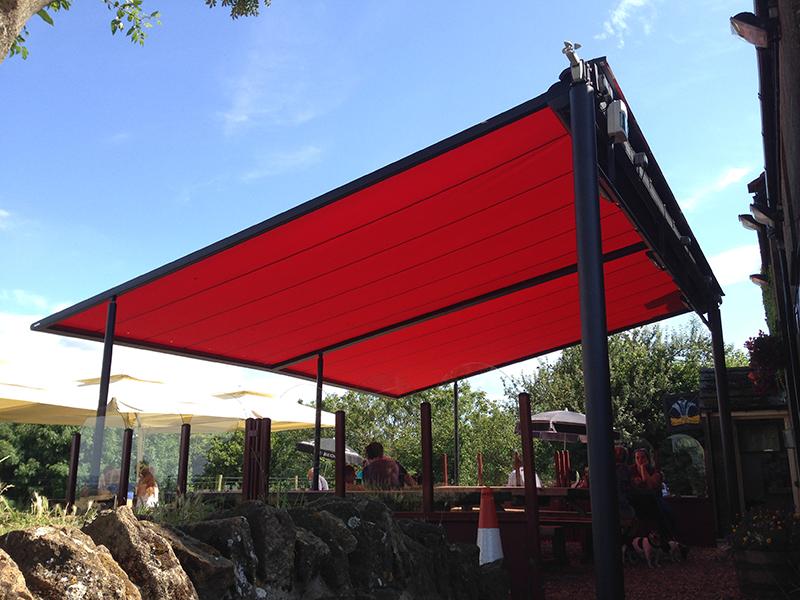 Pergola is Pub Garden