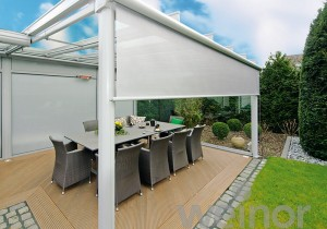 Weinor Terrazza Glass Veranda with Vertical Blinds