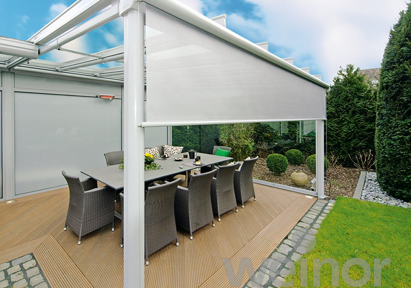 Glass Veranda with screens
