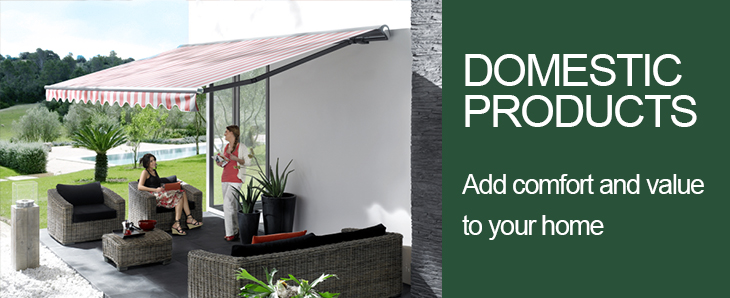 Domestic Awning and Canopy products