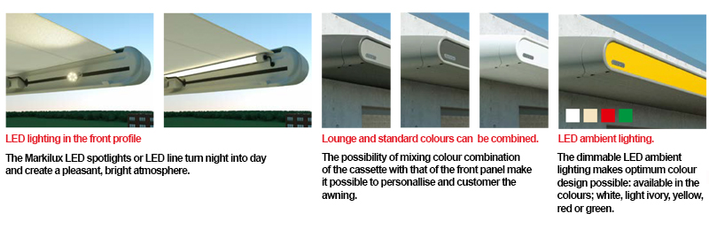 Awning and canopy in one system from Markilux