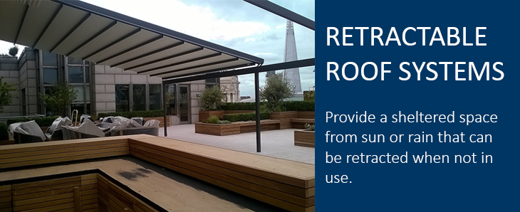 Retractable roof and canopy systems