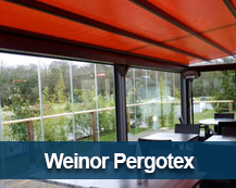 Retractable canopy by Weinor