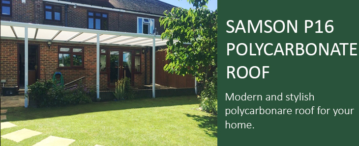 Samson P16 Polycarbonate Roof header
