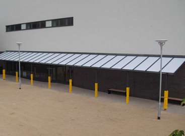 Outdoor canopy cover for office and warehouse