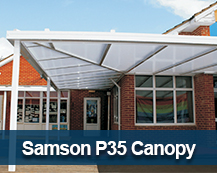 Samson P35 Commercial Canopy polycarbonate