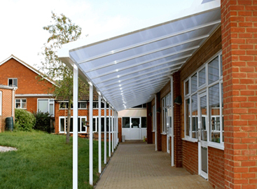 Canopy for walkway at school