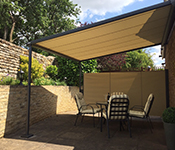 Click to view MArkilux Pergola and 790 side screen case study