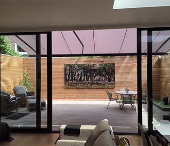 Retractable Awnings providing shade