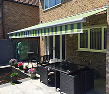 Click to view awning with shade plus case study