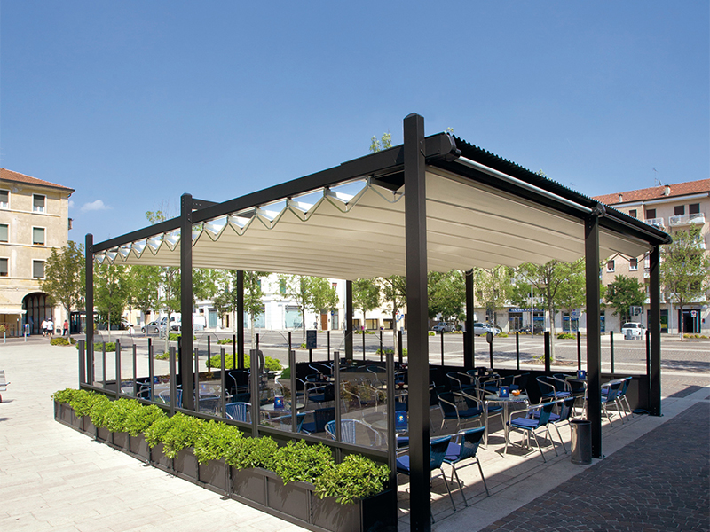Commercial Retractable Roofs Markilux Pergola Amp Gibus