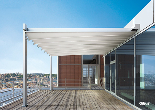 Leaning Med Isola Fly Commercial Outdoor Canopy