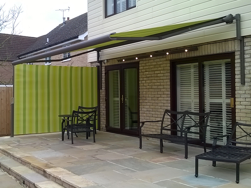 Awning With Lights And Side Screen