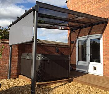 Glass Veranda With Vertical Blind Samson Awnings