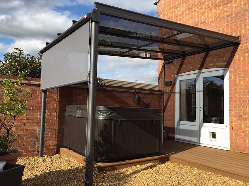 Glass Veranda with Vertical Blind