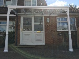 A front view of the completed G6 Samson Glass Veranda.