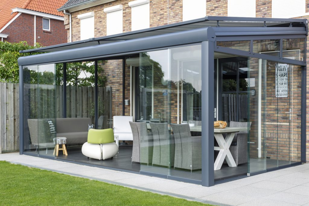 Large Verano Riva Glassroom in garden