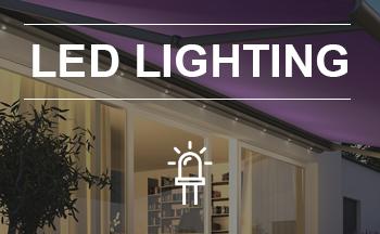 Awnings with LED lighting