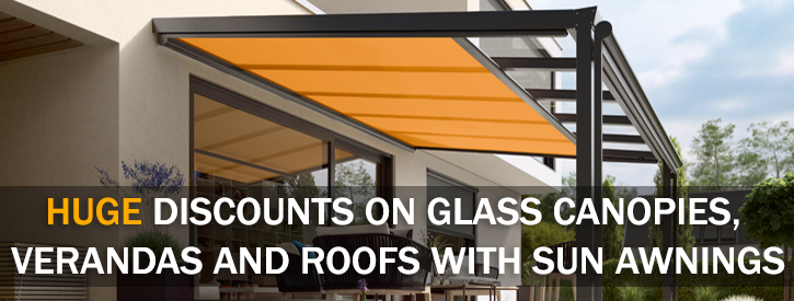 Glass Roof With An Awning Offer Banner