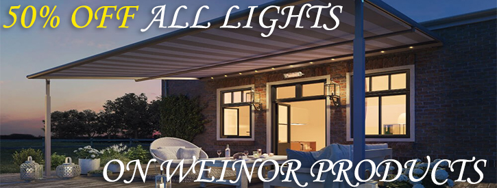 Discount on Weinor LED lights