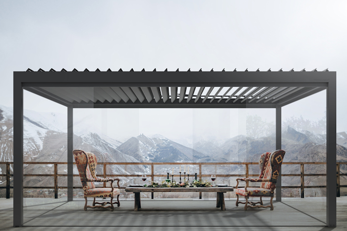 Milwood Pergola Agava in Black