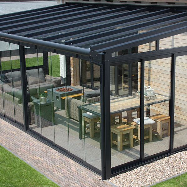 Black framed Garden Glass Room