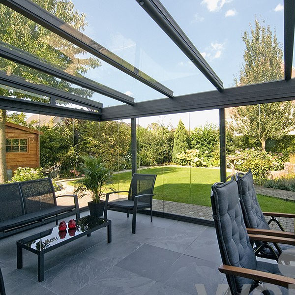 Inside View - Anthracite Grey framed Garden Glass Room