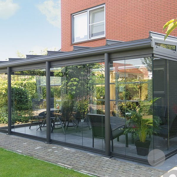Outside View - Anthracite Grey framed Garden Glass Room