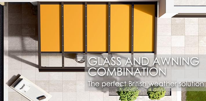Glass Veranda and Awning combination