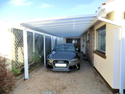 Ferrari under Samson Aluminium Carport