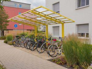 Car port bicycle rack