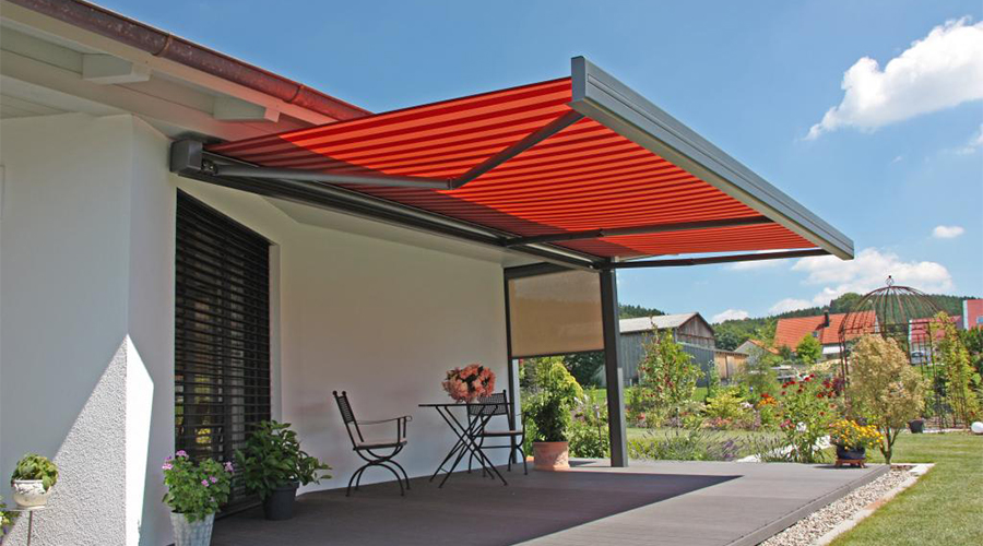 Red Erhardt Q Patio Awning