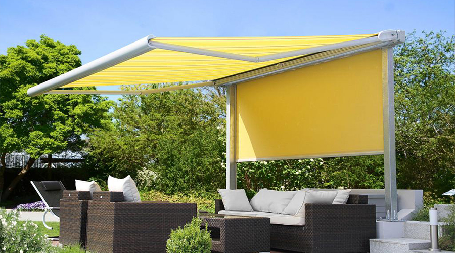 Yellow Awning and screen