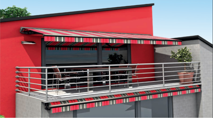 Red Erhardt balcony awning