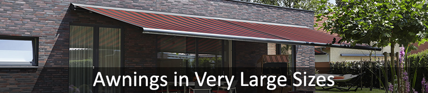 Retractable Awnings in Large Sizes | Samson Awnings