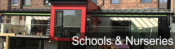 School Amp Nursery Sun Shading Awnings Retractable Awnings
