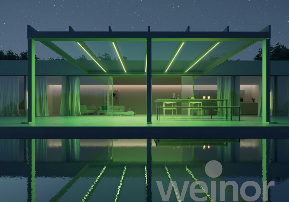 Terrazza Pure with Green LED Lights