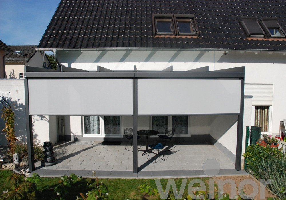 Weinor Terrazza Pure with VertiTex Awnings