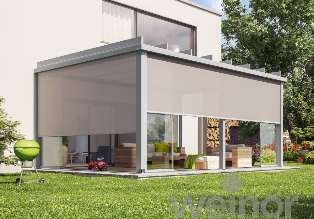 Weinor Terrazza Pure with VertiTex II Blinds