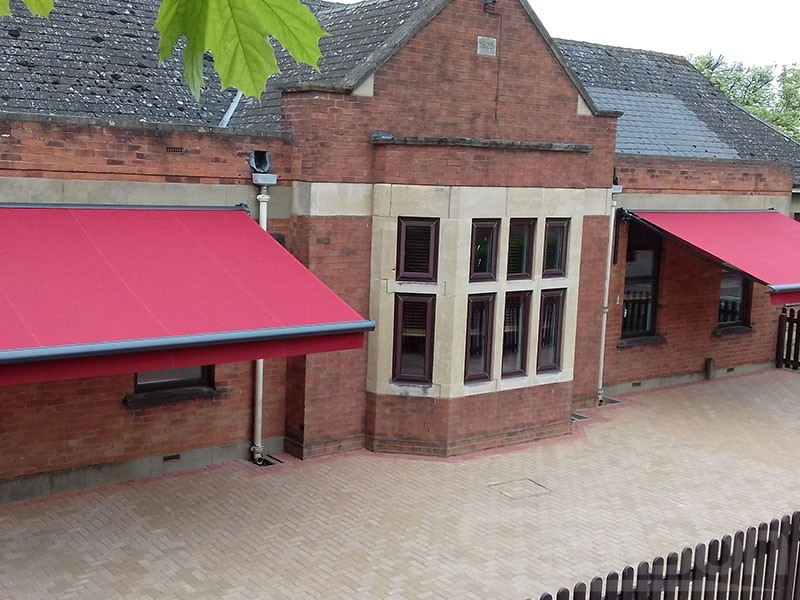 Multiple Awnings installation in school