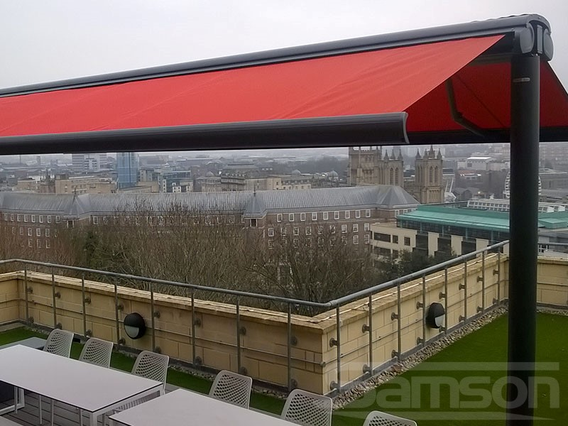 Roof Top Butterfly Awning installation