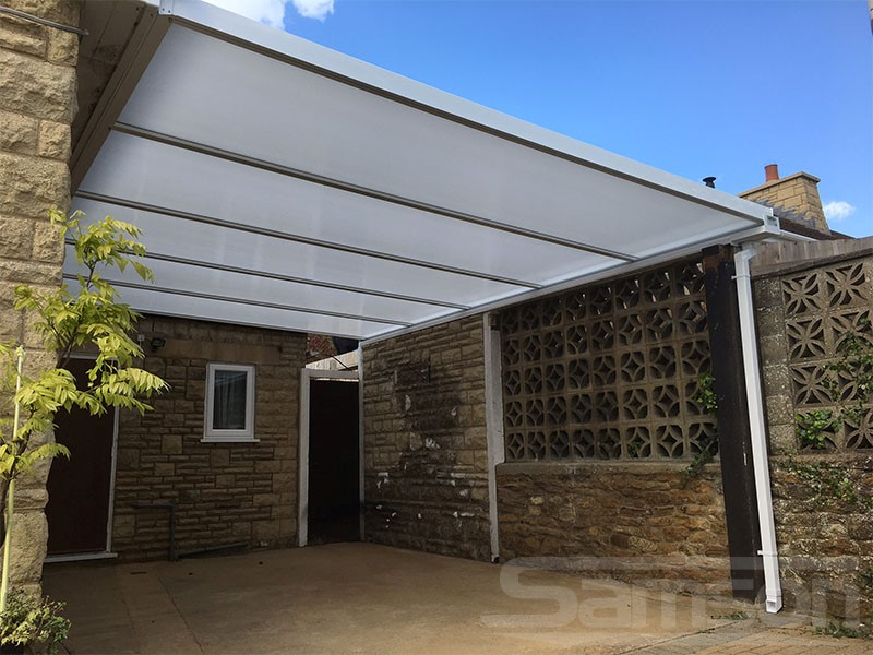 Polycarbonate Carport Installation